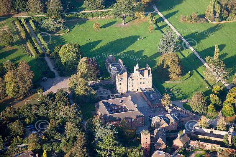 Aerial photo of Rufford Abbey.