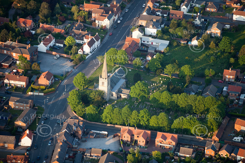 Aerial photo of Balderton Church.