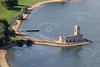 Aerial photo of Normanton Church on Rutland Water.
