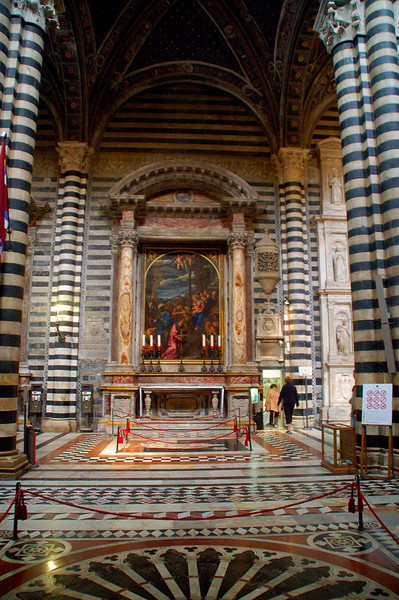 Siena , Italy Duomo --Interior detail