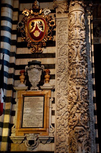 Siena, Italy Duomo--Interior detail