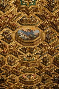 Santa Maria in Trastevere (ceiling)---Rome, Italy