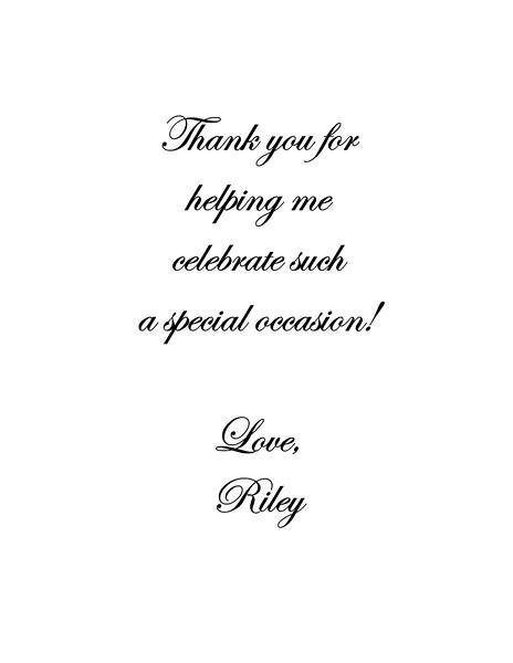 Riley- Thank You Note