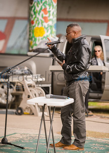 Chrispin Chifwepa delivered an inspiring sermon to those present at Under the Bridge.