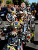 Motorcyclists participate at celebrations of Saint George's Day, Rio de Janeiro, Brazil, April 23, 2008. Thousands of Catholics and worshippers of Afro-Brazilian religions pack churches dedicated to Saint George, widely venerated in Brazil as the African deity Ogum, the warrior god.  (Austral Foto/Renzo Gostoli)