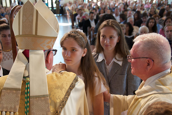Scenes of Confirmation Mass at Corpus Christi Church May 17 2014