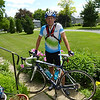 Taken after my final training ride, June 15, when I went to Maitland and back (a 117 km trip). Did 2014 kms of outside training. Snow is gone and flowers are blooming.