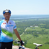At the top of Champlain Lookout in Gatineau Park.