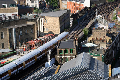 2 June 2011 Borough Market and Borough Viaduct with construction works for the new Thameslink Viaduct.
