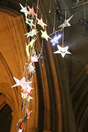 Hanging Stars of Southwark Cathedral. 25 December 2011