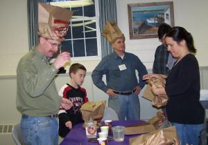 Making paper bag hats