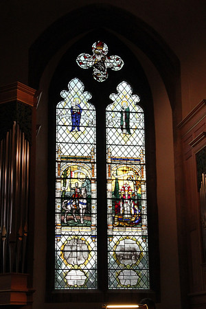 The west window, installed in 1932. 15 July 2011