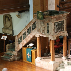 Pulpit from the gallery