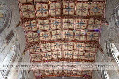Ceiling in High Altar, St David's Cathedral