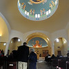 "Usher Peter Mustian helps a woman to her seat before the Sunday service of the St. Luke Orthodox Christian Church.<br /> For more photos of the church, go to  <a href=""http://www.dailycamera.com"">http://www.dailycamera.com</a>.<br /> Cliff Grassmick / September 5, 2010"