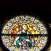 A view of the restored window depicting St. Philip. St. Mary of the Assumption Church had all its stained glass windows restored and re-installed. The project cost nearly half a million dollars and 11 years of saving and planning.