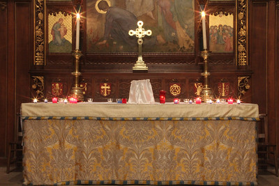 Lights at the High Altar. 2 February 2012
