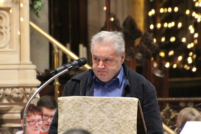 Dugald Robertson reading the Eighth Reading from Philippians 2: 5 - 11. 24 December 2014