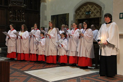 "The Decani choir singing the third verse of ""From heav'n above to earth I come"" (Tune von Himmel Hoch) 24 December 2014"