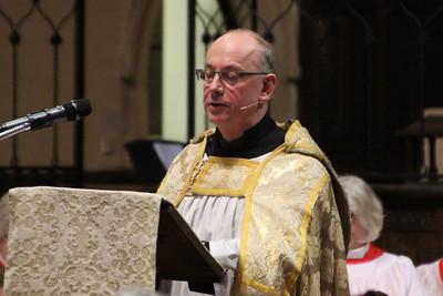 Vice Provost Cedric Blakey reading the Ninth Reading from the Gospel of Luke 2: 1 - 20. 24 December 2014