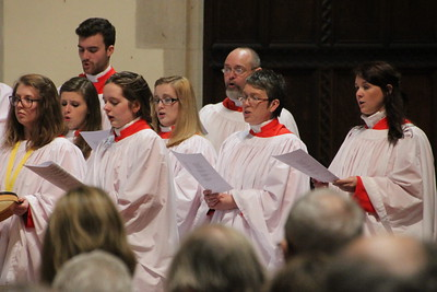 "Cathedral Choir during the singing of ""Ecce novum gaudium"". 24 December 2014"