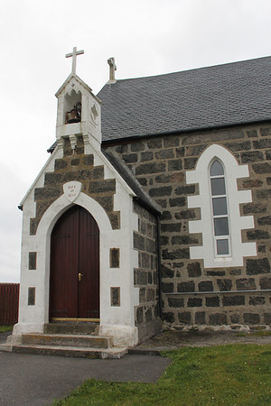Entrance of St Michael's Church Haun, Eriskay 10 July 2011