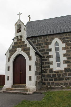 Entrance of St Michael's Church Haun, Eriskay 10 July 2011