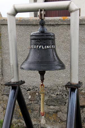 Bell from German battleship Defflinger St Michael's Church, Haun, Eriskay 10 July 2011