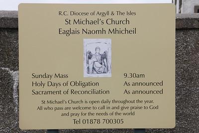 Noticeboard for St Michael's Church Haun, Eriskay 10 July 2011