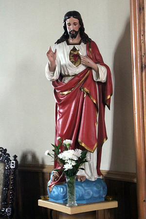 Statue of St Joseph St Michael's Church, Haun, Eriskay 10 July 2011