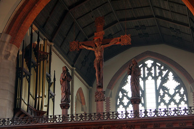 Screen Crucifix and Organ Pipes. 28 January 2012