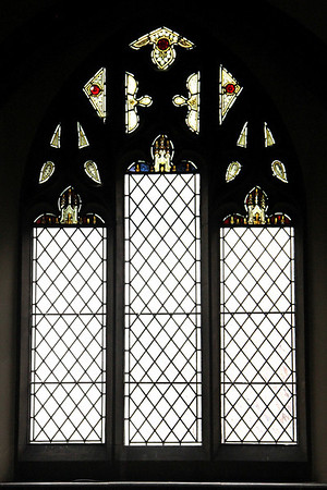 South west window showing the replacement sections after being damamged. 28 January 2012