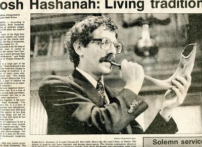 #9 - Rosh Hashanah 1986