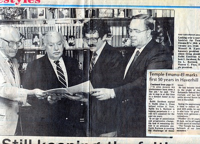 #3-choice 1: Oct 1987-Manuel Epstein, Rabbi Emeritus Jacobson, Rabbi Korinow, Warren Frye