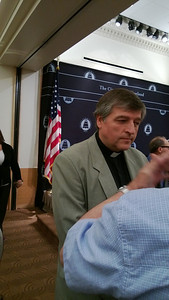 Fr. Helmut at the City Club in Cleveland, OH.