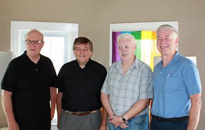 (L to R)             Fr. Kevin, president of Dignity/L.A.             Fr. Helmut Schuller                 Patrick, Dignity/L.A. member             Michael, Dignity/L.A. member