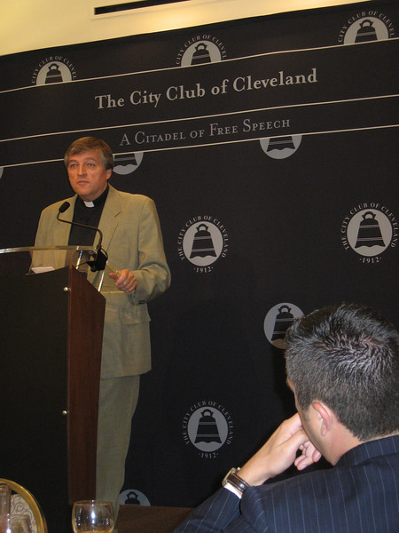 "Fr. Helmut at the Cleveland City Club. Video link here: <a href=""http://www.youtube.com/watch?v=ShS3F_vvPxI"">http://www.youtube.com/watch?v=ShS3F_vvPxI</a>"