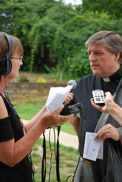 WKNU's Cheri Lawson interviews Fr. Helmut in Cincinnati