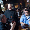 Bishop Michael Olson gave his first presentation as the new bishop of the Diocese of Fort Worth at Theology on Tap at BJ's Brewhouse in Hurst on May 5, 2014.