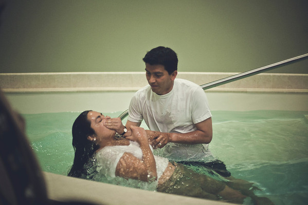 Tracy Montes Baptism