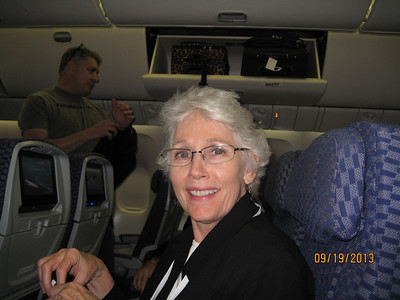 Judy en route to Rome