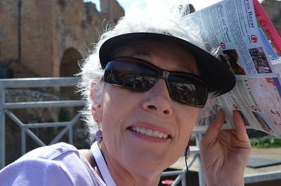 Judy in Sicily.
