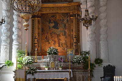 Altar of church in Sicily.
