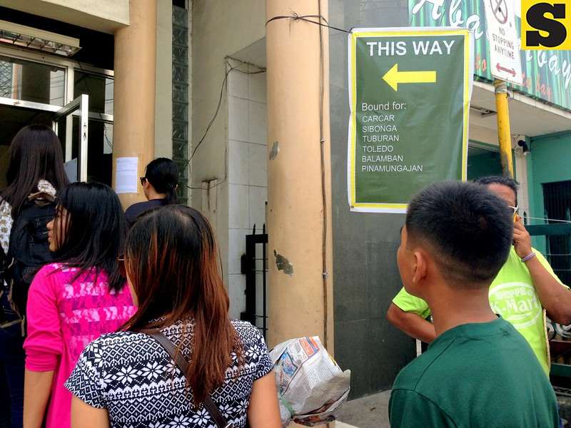 Gates at the Cebu South Bus Terminal were divided into two to cater all the passengers on Friday, November 1, 2013.
