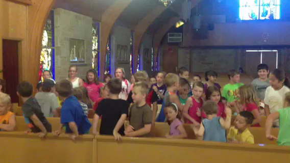 VIDEO: Children sing during the vacation Bible school held last week at St. John Nepomucene Catholic Church in Dahlgren.