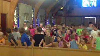 VIDEO: Children sing during the vacation Bible school held last week at St. John Nepomucene Catholic Church in Dahlgren.