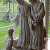 The First Vision statue in the Sacred Grove Visitor's Center.