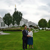 The photographer and his wife at the Palmyra New York Temple