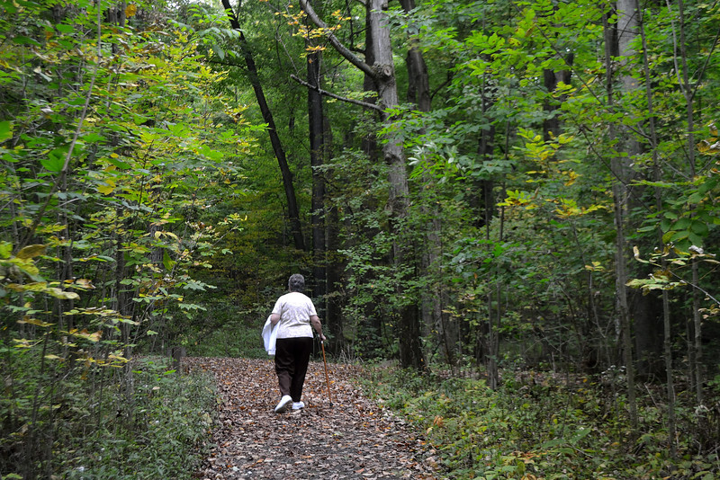"""""""I walked today where Jesus walked..."""" The Sacred Grove, Palmyra New York where the Father and the Son appeared to the boy Joseph Smith.  It was here, in 1965 that Sally had confirmed to her that the Church had been restored and that she should go on to serve a mission."""