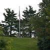 Flag pole atop the Hill Cumorah.